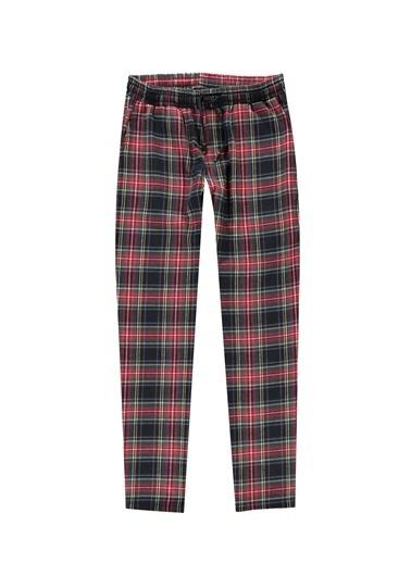 Kiğılı Ekose Flanel Pijama Altı Lacivert